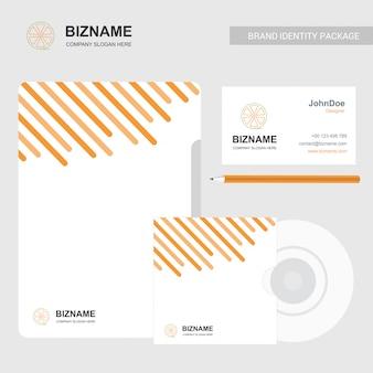 Logo de fruits, papier à en-tête et carte de visite