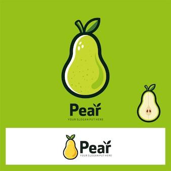 Logo de fruits de poire