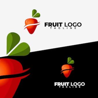 Logo de fruits simple et moderne