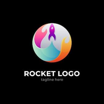 Logo fusée et lune