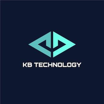 Logo futuriste de la technologie kb