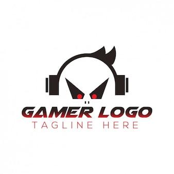 Logo gamer avec slogan