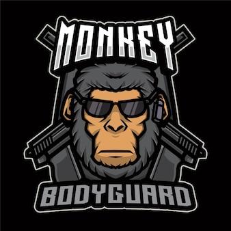 Logo de garde du corps de singe