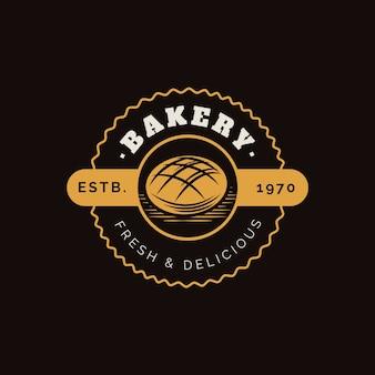 Logo de gâteau boulangerie rétro
