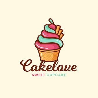 Logo de gâteau de boulangerie