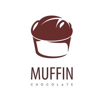 Logo de gâteau de tasse de muffin
