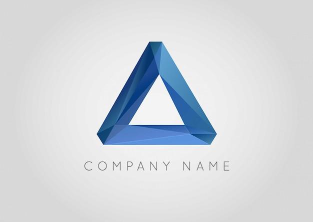 Logo de gemme triangulée en cristal