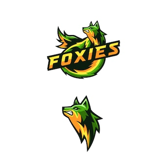 Logo génial des renards pour le jeu en équipe