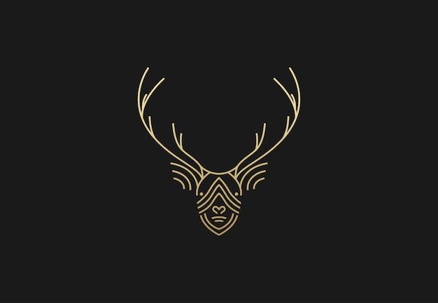 Logo géométrique de cerf