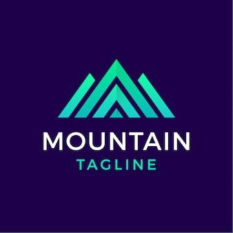 Logo géométrique de montagne de style moderne