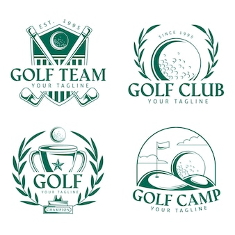 Logo de golf au design plat