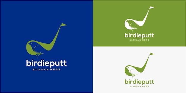 Logo de golf birdy