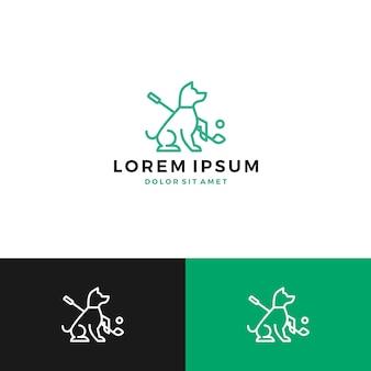 Logo de golf de chien