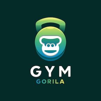 Logo de gorille de gym