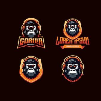 Logo de gorille de jeu