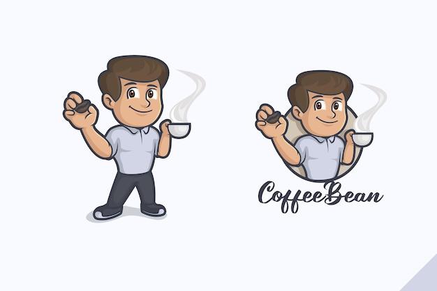 Logo de goût de grain de café