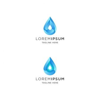 Logo de goutte d'eau dégradé avec forme abstraite