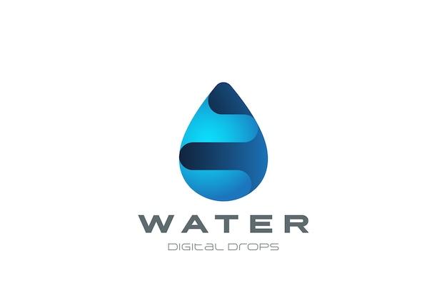 Logo De Goutte D'eau. Logotype De Gouttelettes Aqua Vecteur Premium