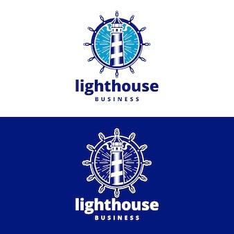 Logo de gouvernail de phare