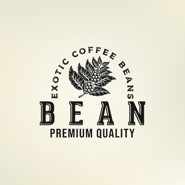 Logo de grain de café