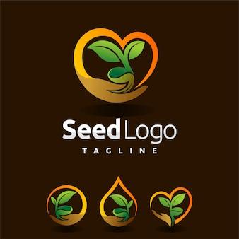 Logo de graine serti de formes multiples