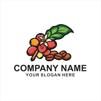 Logo de grains de café