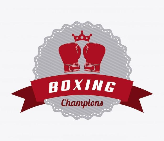 Logo graphique d'insigne de boxe