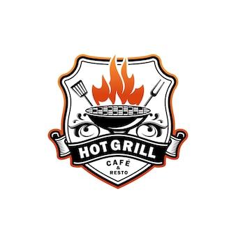 Logo de gril chaud
