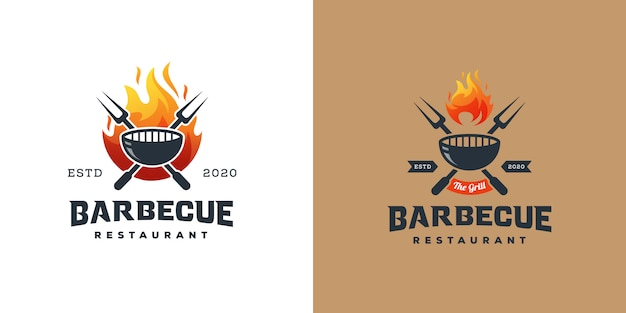 Logo de grill barbecue