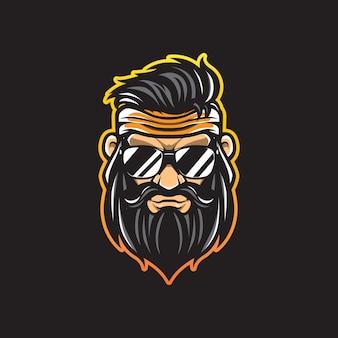 Logo de guerrier cool