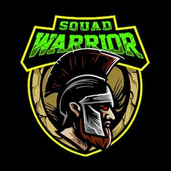 Logo de guerrier d'escouade