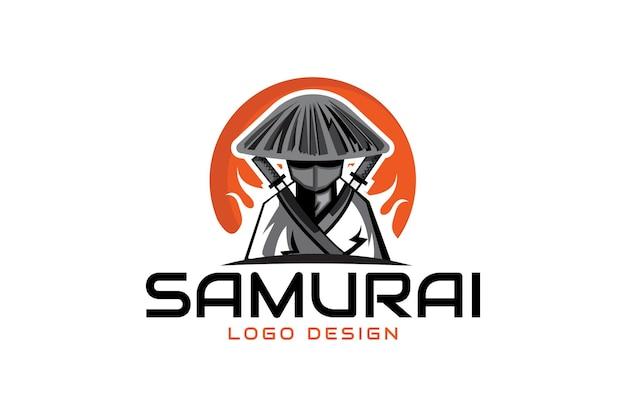 Logo de guerrier samouraï