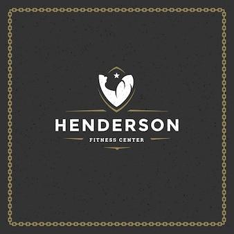 Logo de gym fitness