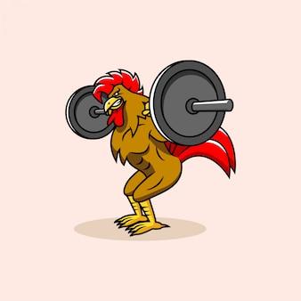 Logo de gym rooster