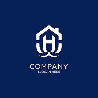 Logo h en forme de maison