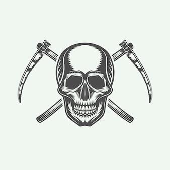 Logo d'halloween, emblème