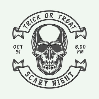 Logo d'halloween, insigne