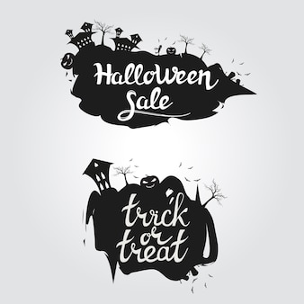 Logo halloween vente et trick or treat