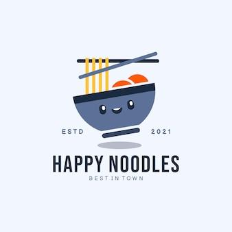 Logo happy noodles