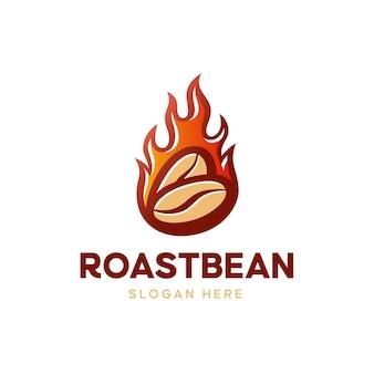 Logo de haricots rôtis au feu