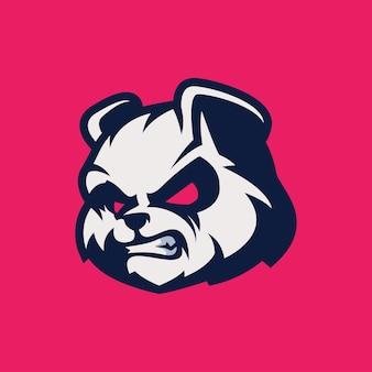 Logo head panda avec édition gratuite