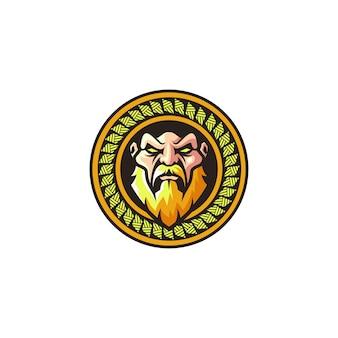 Logo de héros en or