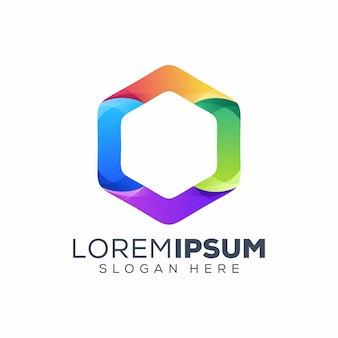 Logo hexagonal coloré