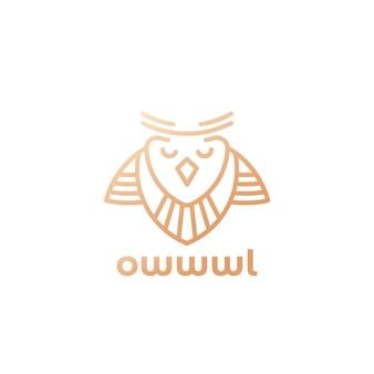 Logo de hibou dans la conception de ligne