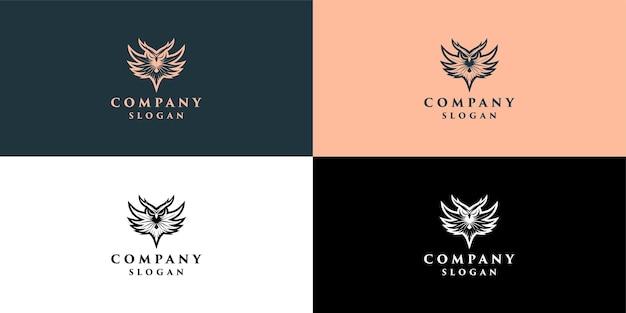 Logo de hibou pour l'éducation et la décoration d'entreprise