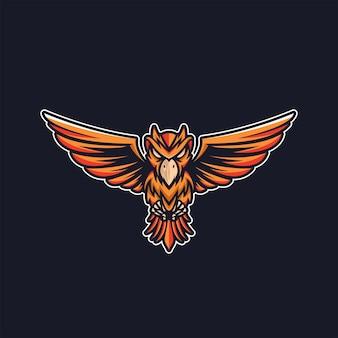 Logo hibou volant