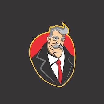 Logo de l'homme d'affaires