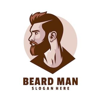 Logo homme barbe