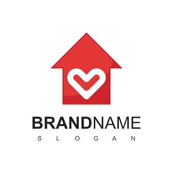 Logo hôpital clinique coeur symbole maison amour