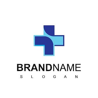 Logo de l'hôpital et de la clinique symbole de soins de santé